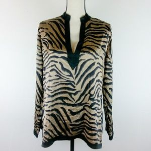 Chico's Animal Print Silk Blend Tunic